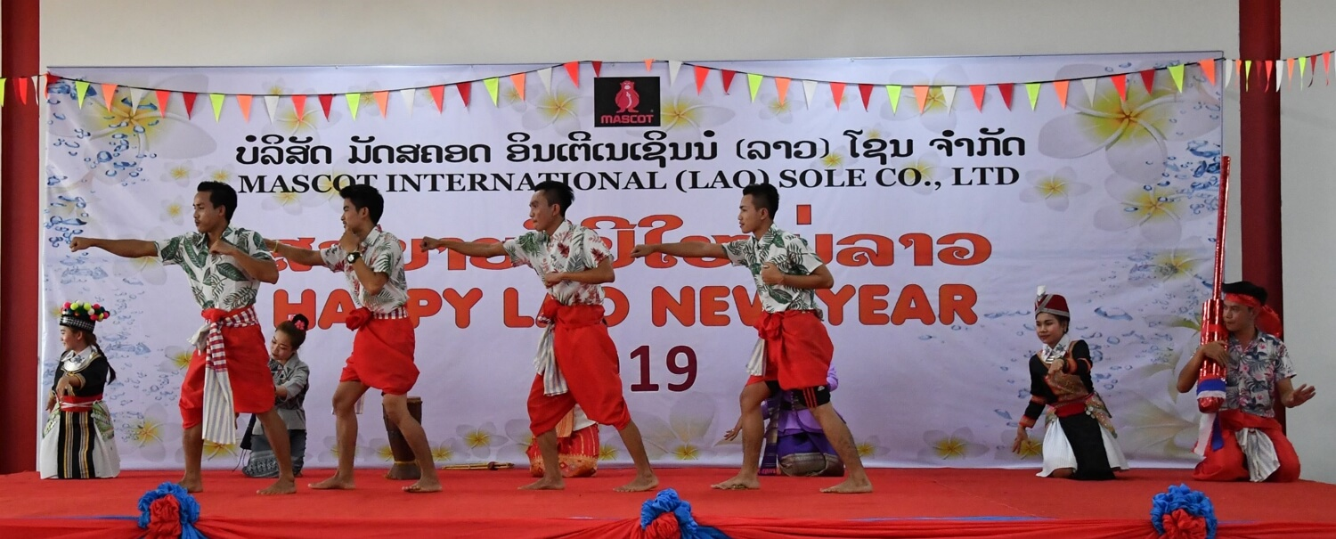 Good, safe and secure working conditions in production - New Years Laos - 2019