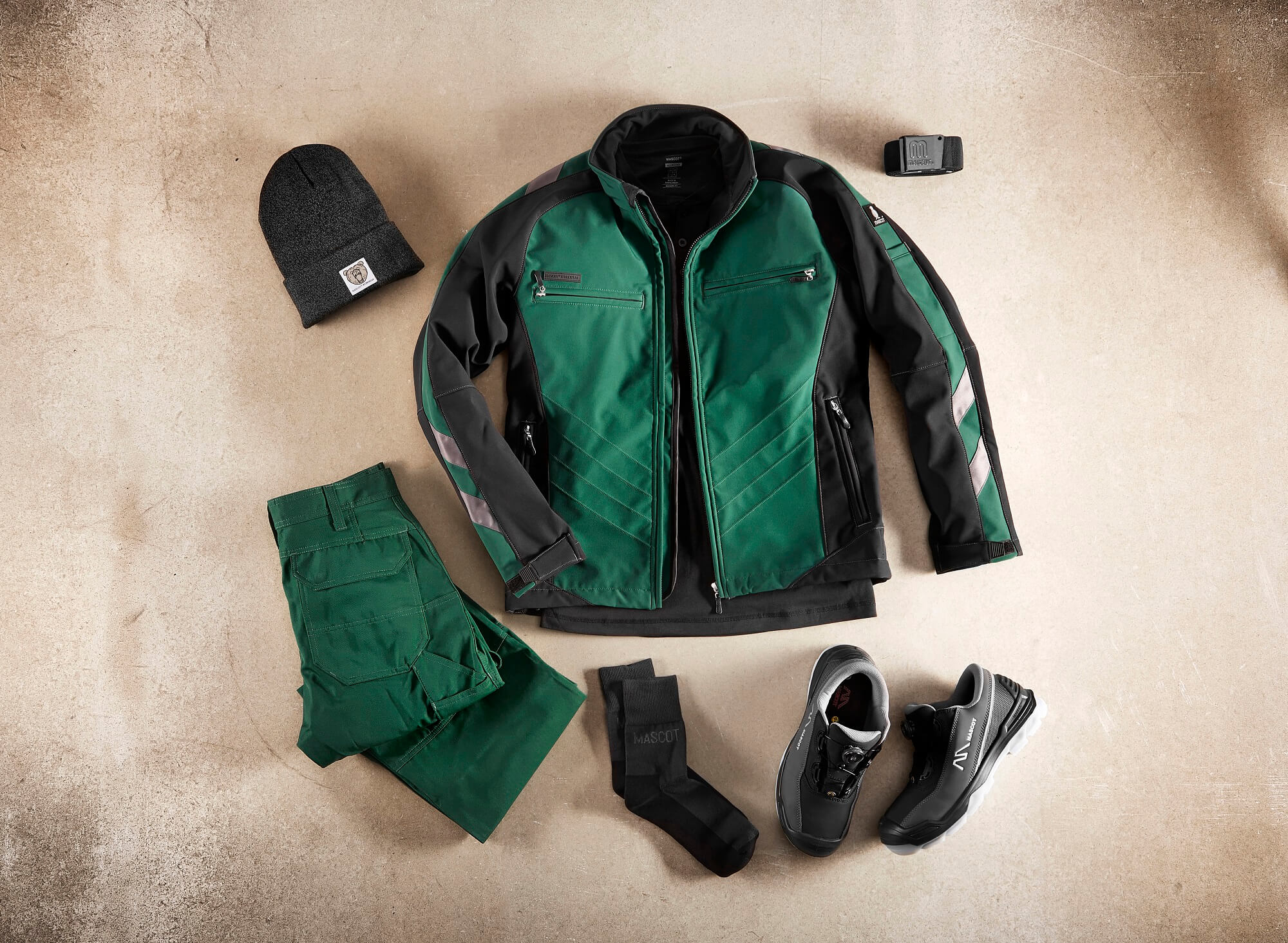 Collage - Softshell Jacket, Trousers & Accessories - Green