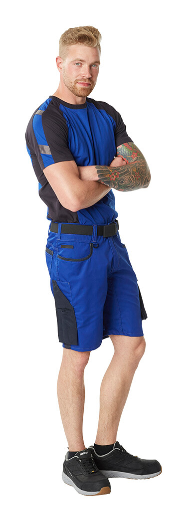 MASCOT® UNIQUE Work T-shirt & Shorts - Royal blue - Man