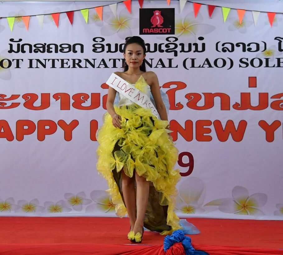 Good, safe and secure working conditions in production - New Years Laos - fashion show - I love MASCOT - 2019