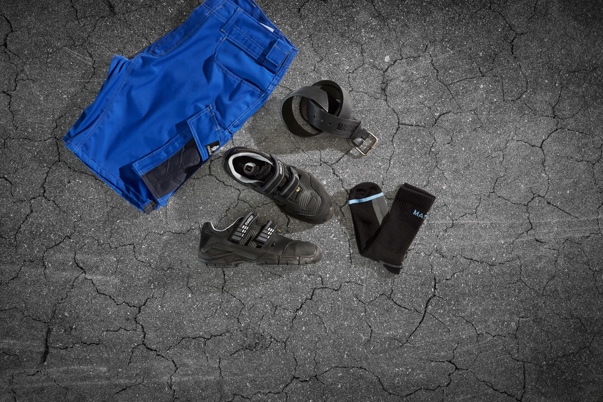 Work Trousers Royal blue & Safety Shoe - Collage