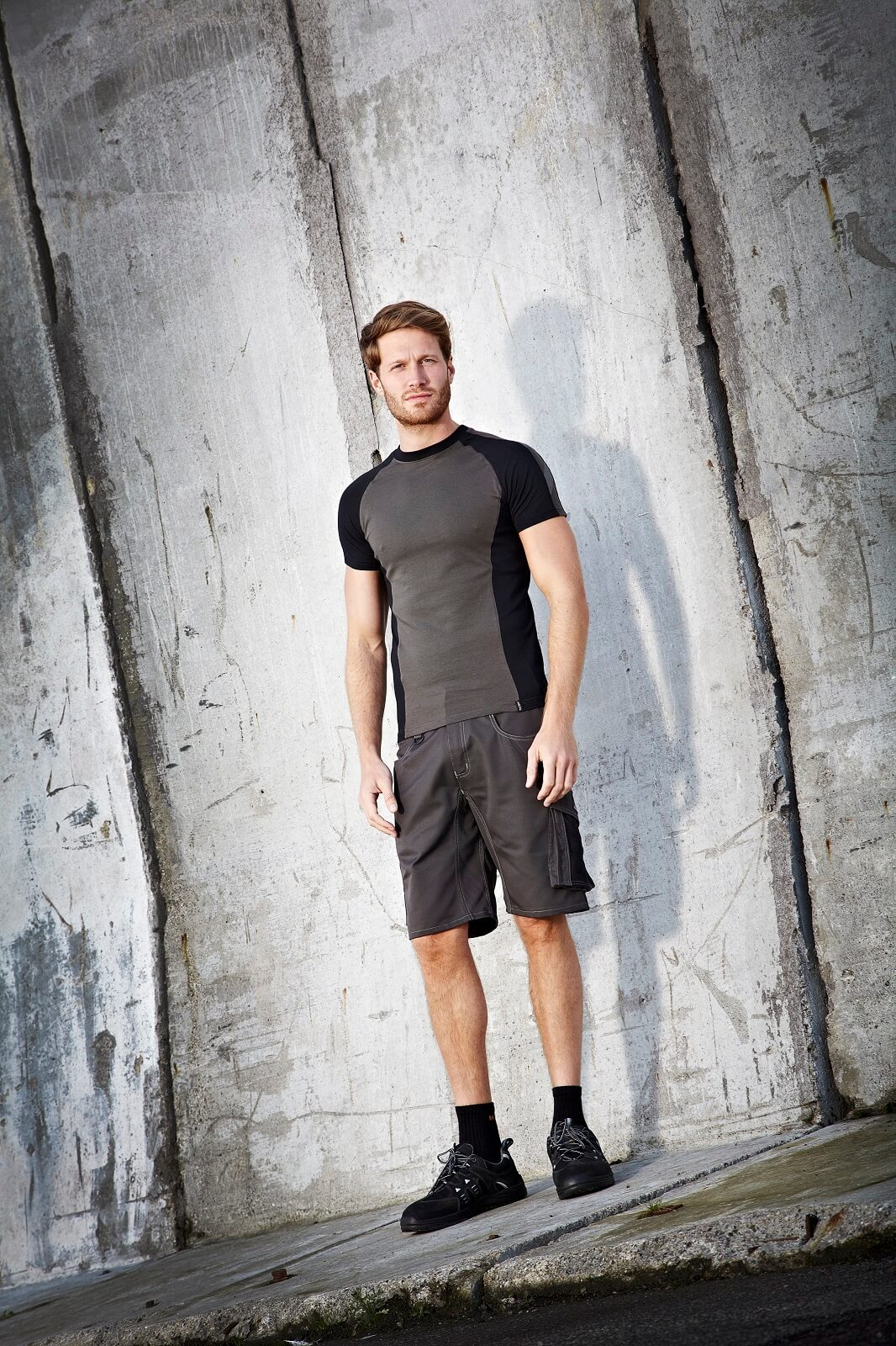 Grey - Work Shorts & T-shirt - Man - Environment - MASCOT® UNIQUE