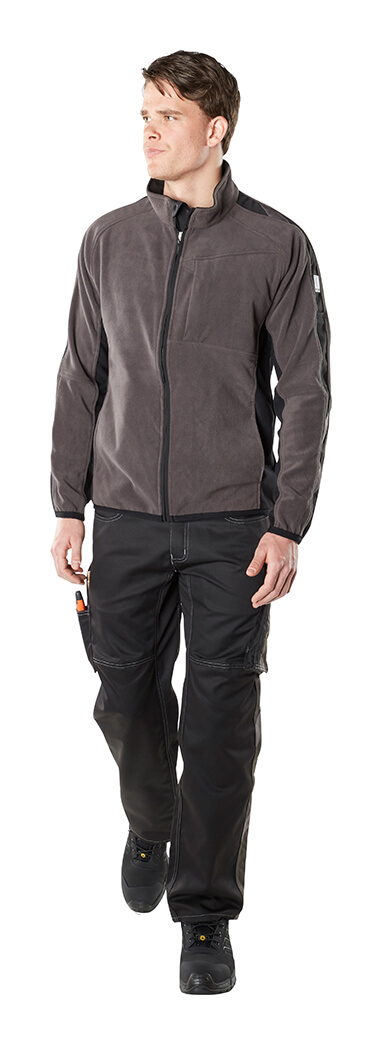 Fleece Jacket & Trousers - Grey - Man