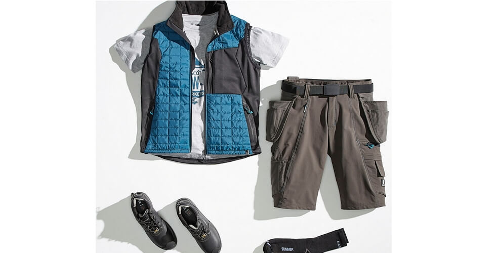 Lightweight Gilet & Craftsmen's Shorts - MASCOT® ADVANCED - 2018 Press