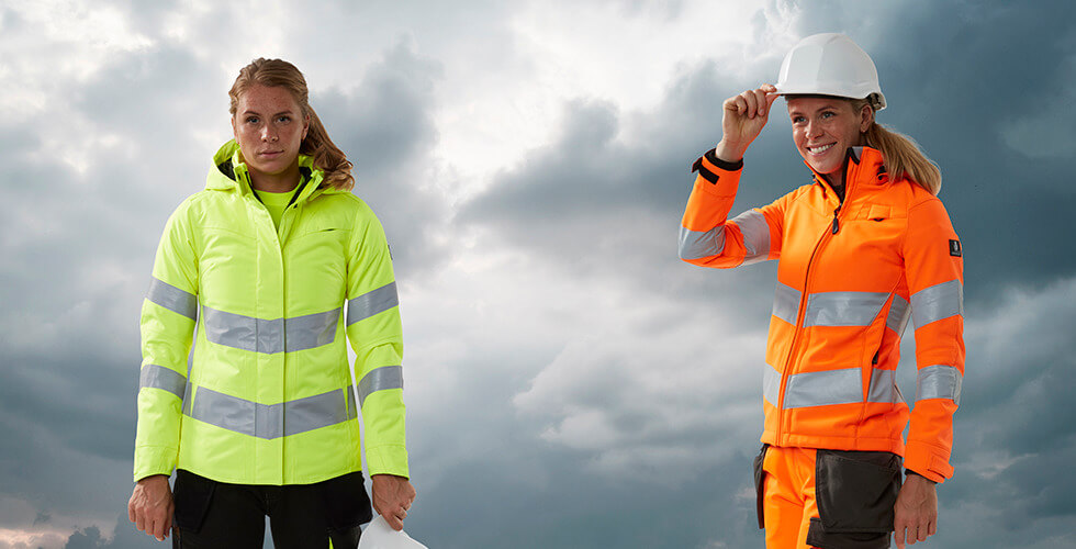 New fluorescent jackets for women