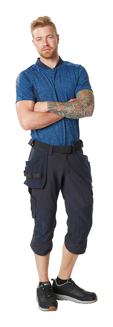 Man - MASCOT® ACCELERATE Polo shirt & ¾ Length Trousers with holster pockets
