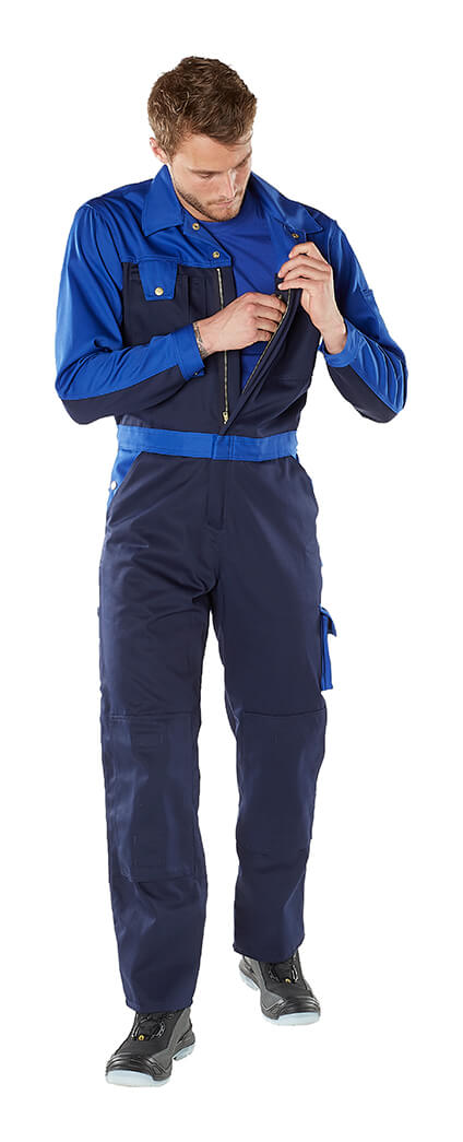 MASCOT® IMAGE Overalls - Navy & Royal blue - Model
