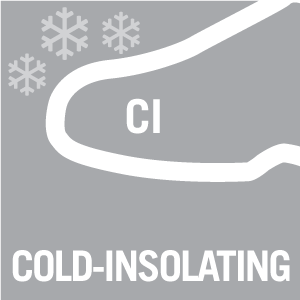 Footwear labelled with CI is cold isolating according to standard EN ISO 20345. Footwear with this label is made to limit temperature fluctuations of maximum 10° C in 30 minutes at temperatures down to -17° C. Your feet are therefore protected when you work in lower temperatures or on cold surfaces.