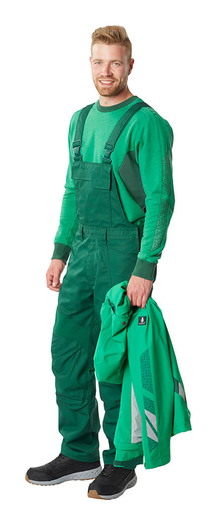 Bib & brace, Jumper & Jacket - Green - MASCOT® ACCELERATE - Man