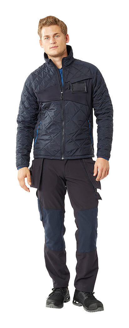 Navy - Man - MASCOT® ACCELERATE Thermal Jacket & Trousers with holster pockets
