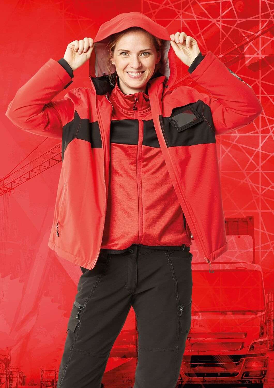 Jacket for women , Jumper & Trousers - MASCOT® ACCELERATE - Red