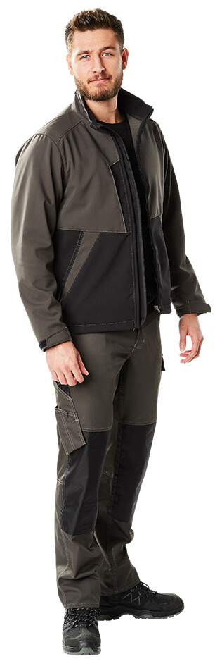 Model - dark anthracite/black - Man - Softshell Jacket & Trousers