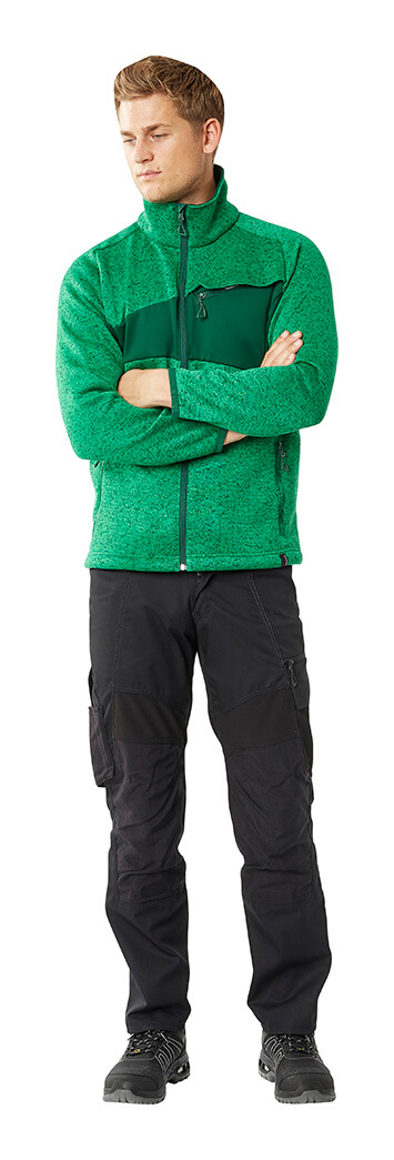 Trousers & Zipped Jumper - Green & Black - Man - MASCOT® ACCELERATE