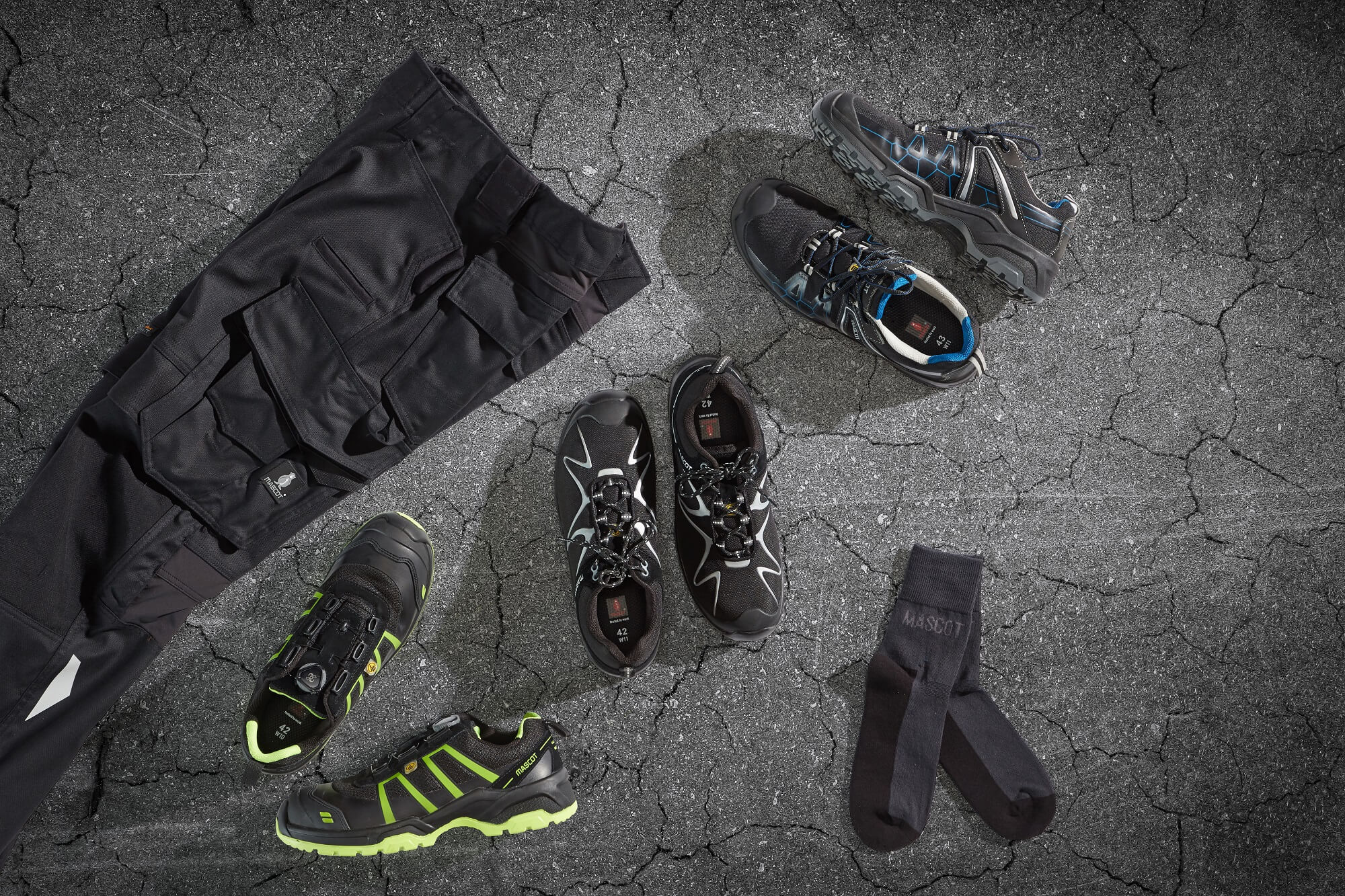Black Collage -  Safety Shoe & Work Trousers