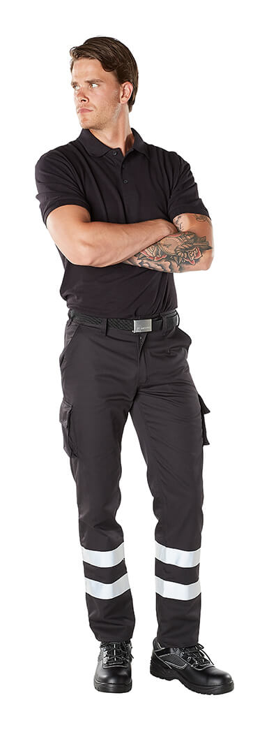 Trousers with thigh pockets + Polo shirt - Model - MACMICHAEL®