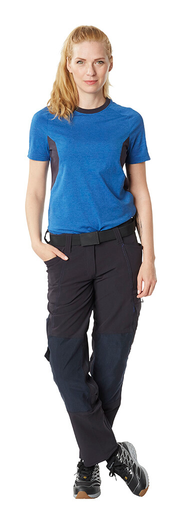T-shirt Royal blue & Trousers Black - MASCOT® ACCELERATE - Woman