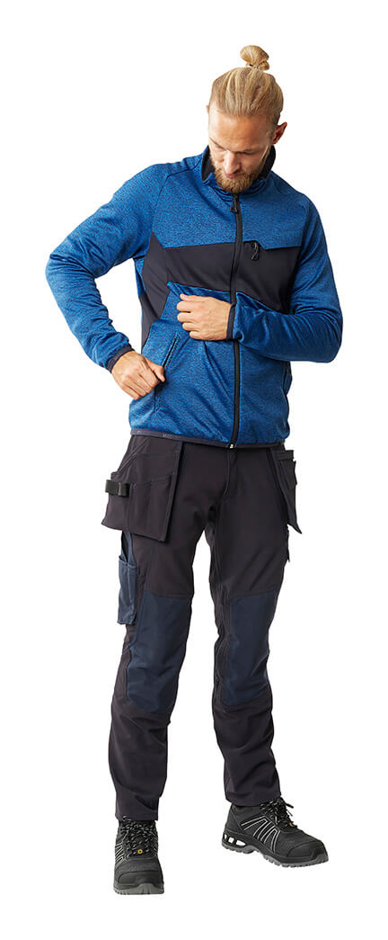 Man - MASCOT® ACCELERATE Knitted Jumper with zipper & Trousers with holster pockets