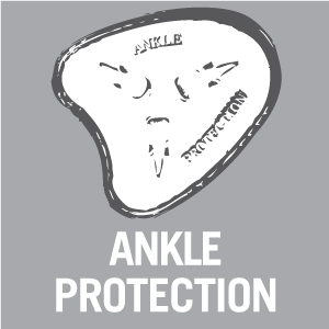 The wearer's ankle is protected against blows from the side by MASCOT's specially developed protection pad at the ankle bone on the inner and outer side of the footwear.