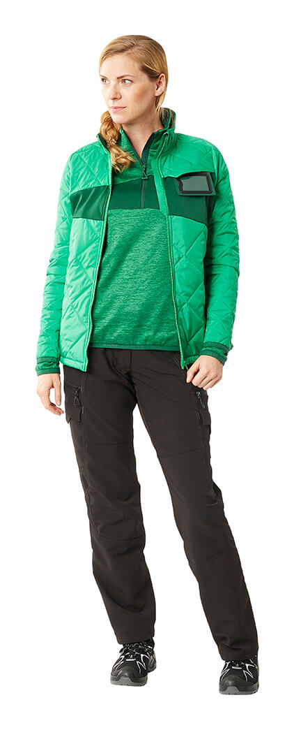 MASCOT® ACCELERATE Trousers, Thermal Jacket & Jumper - Green - Woman