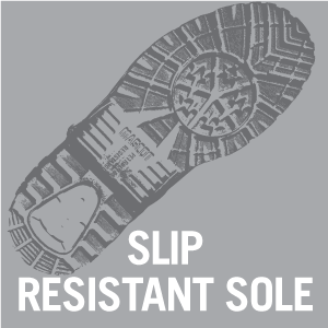 Excellent traction with ultra slip resistant soles. Approved by both SRA (tested with soap on ceramics) and SRB (tested with glycerol on steel), which automatically achieves the best standard for slip-resistant soles, SRC.
