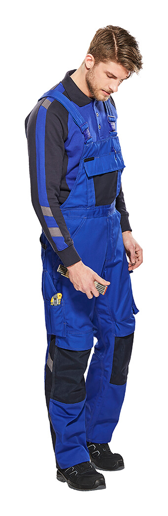 Royal blue - Work Polo Shirt & Bib & Brace with kneepad pockets - Model - MASCOT® UNIQUE