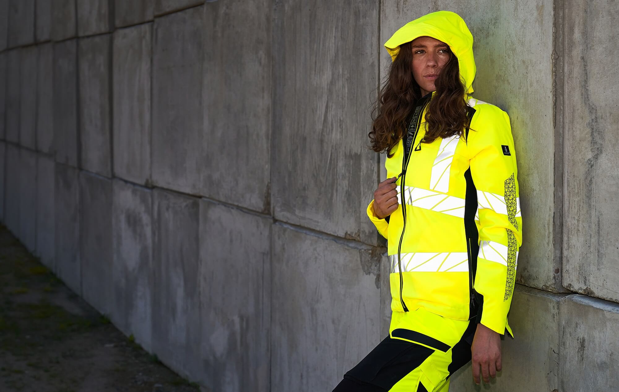 Winter Jacket & Work trousers for women - Fluorescent yellow - MASCOT® ACCELERATE SAFE