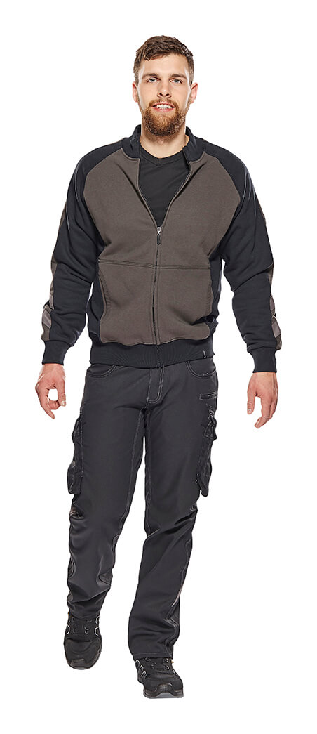 Model - Zipped Jumper & Trousers with thigh pockets - Grey - MASCOT® UNIQUE