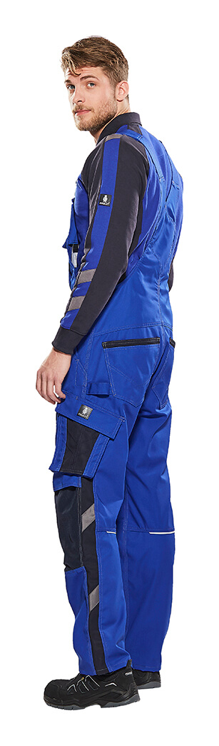 Model - Royal blue - Work Polo Shirt & Bib & Brace with kneepad pockets - MASCOT® UNIQUE