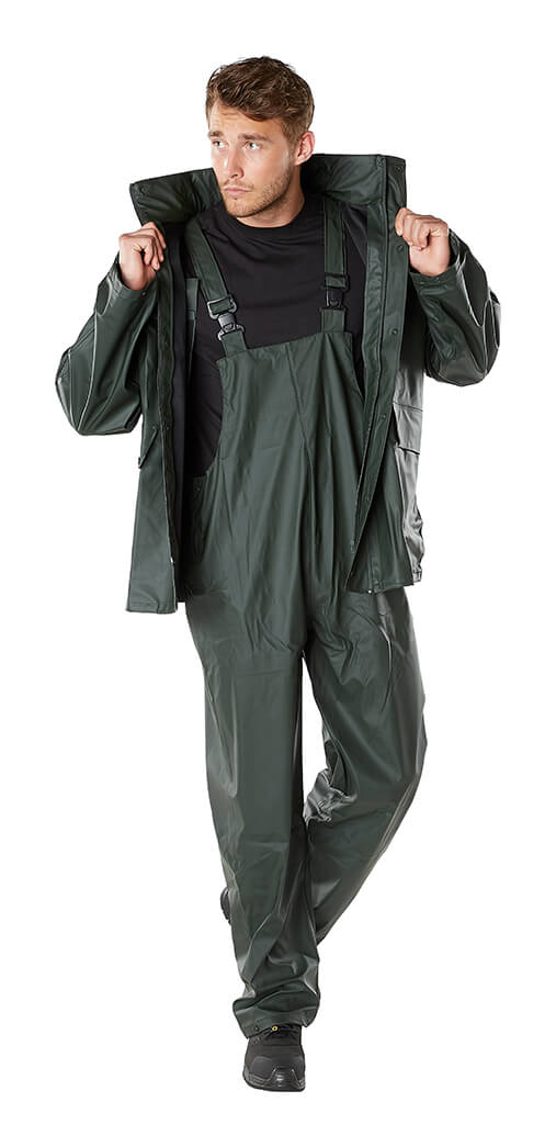 Model - Waterproof Clothing Green -MASCOT® AQUA