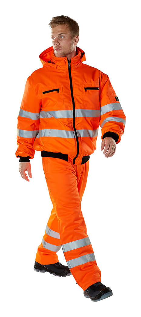 MASCOT® SAFE ARCTIC - Model - Fluorescent orange - Jacket & Trousers
